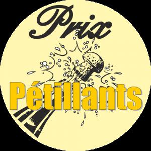 Adhésif Prix Pétillants noir/jaune sur ivoire