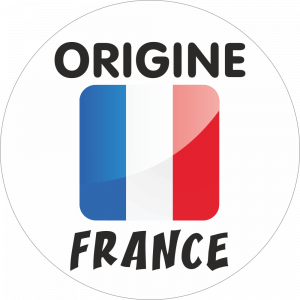 Adhésif Origine FRANCE bleu/blanc/rouge sur blanc