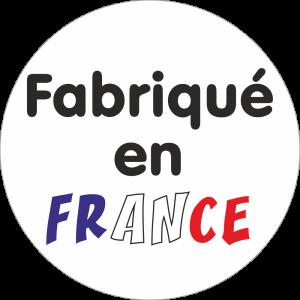 Adhésif Origine Fabriqué en France bleu/blanc/rouge sur blanc
