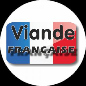 Adhésif Origine Viande FRANCAISE bleu/blanc/rouge sur blanc