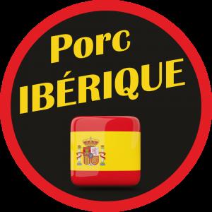 Adhésif Origine Porc Ibérique rouge/jaune/noir sur noir
