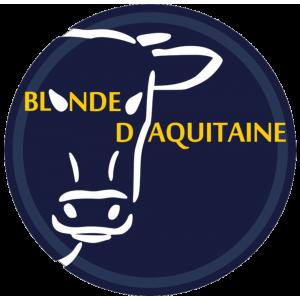 Adhésif Origine Blonde d'Aquitaine jaune/blanc sur bleu nuit