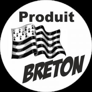 Adhésif Origine Produit BRETON noir sur blanc