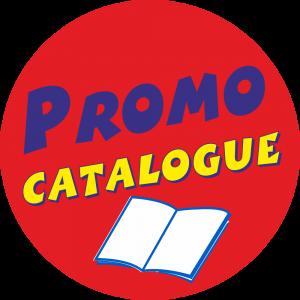 Adhésif Promo Catalogue fond Rouge