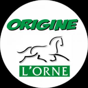 Adhésif Origine L'ORNE vert/noir sur blanc