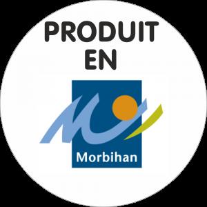 Adhésif Origine produit en MORBIHAN noir/bleu/orange/vert sur blanc