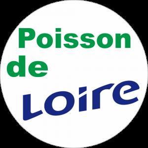 Adhésif Origine Poisson de LOIRE vert/bleu sur blanc