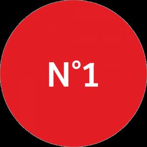 Adhésif NEUTRE Traçabilité Animale - Rouge N°1