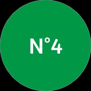 Adhésif NEUTRE Traçabilité Animale - Vert N°4