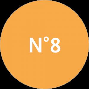 Adhésif NEUTRE Traçabilité Animale - Orange Clair N°8