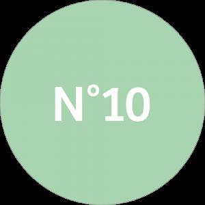 Adhésif NEUTRE Traçabilité Animale - Vert Clair N°10