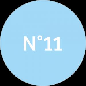 Adhésif NEUTRE Traçabilité Animale - Bleu Ciel N°11