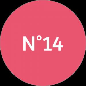 Adhésif NEUTRE Traçabilité Animale - Rouge Clair N°14