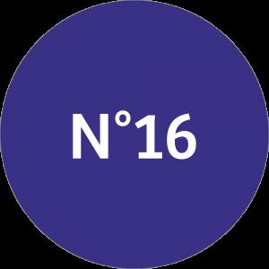 Adhésif NEUTRE Traçabilité Animale - Bleu Nuit N°16