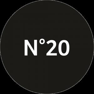 Adhésif NEUTRE Traçabilité Animale - Noir N°20