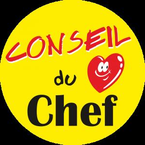 Adhésif Conseil Clientèle - Conseil du Chef - fond jaune