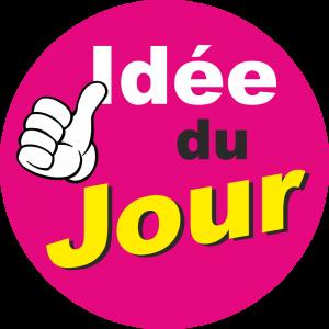 Adhésif Conseil Clientèle - Idée du Jour - fond magenta