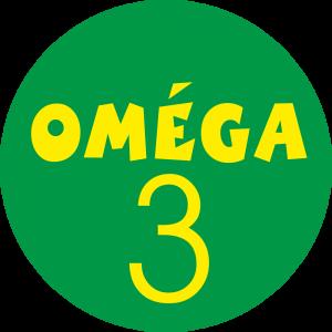 Adhésif Conseil Clientèle - Oméga 3 - jaune fond vert