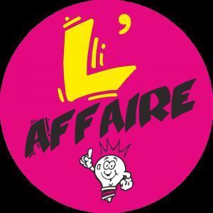 Adhésif L'AFFAIRE fond Magenta