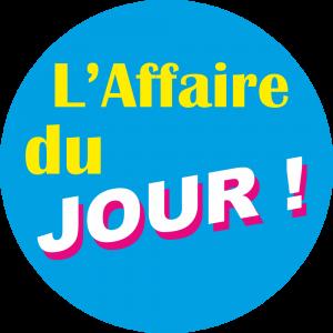 Adhésif L'AFFAIRE du Jour ! fond Bleu