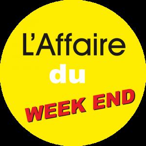 Adhésif L'AFFAIRE du Week End fond Jaune