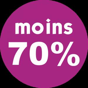 Adhésif REMISE -70% blanc fond violet