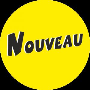 Adhésif Information Clientèle - Nouveau noir fond jaune
