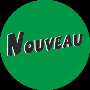 Adhésif Information Clientèle - Nouveau noir fond vert