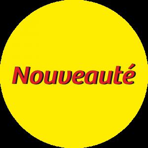 Adhésif Information Clientèle - Nouveauté rouge fond jaune