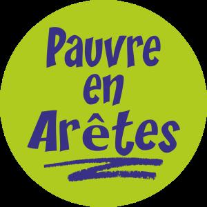 Adhésif Information Clientèle - Pauvre en Arêtes - fond vert