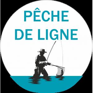 Adhésif Information Clientèle - Pêche de Ligne bleu/noir fond blanc