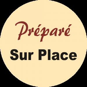 Adhésif Information Clientèle - Préparé Sur Place fond beige