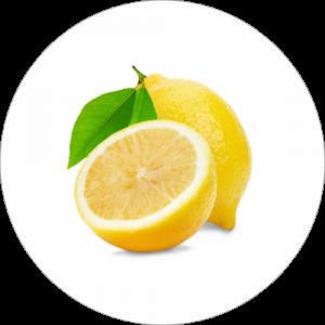 Adhésif Décor Fruit - Citron - fond blanc