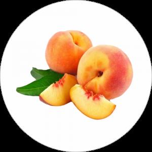 Adhésif Décor Fruit - Pêche - fond blanc