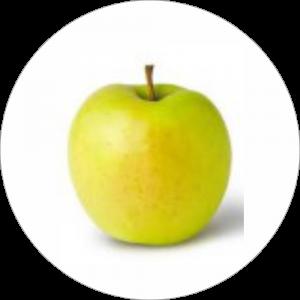 Adhésif Décor Fruit - Pomme Golden - fond blanc