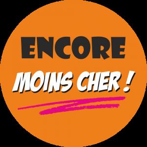 Adhésif Encore MOINS Cher fond Orange