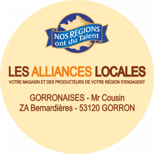 Adhésif logo grande distribution (G.M.S) -  LECLERC - NRT + LES ALLIANCES LOCALES fond beige