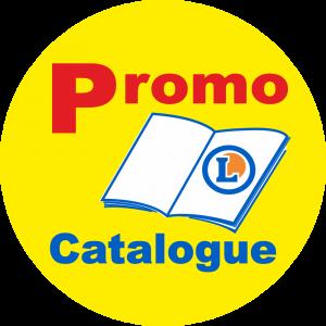 Adhésif logo grande distribution (G.M.S) - LECLERC Promo Catalogue fond jaune