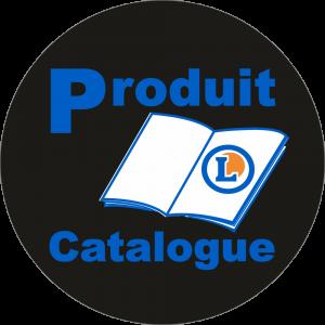 Adhésif logo grande distribution (G.M.S) - LECLERC Produit du Catalogue bleu fond noir