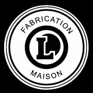 Adhésif logo grande distribution (G.M.S) - LECLERC Fabrication Maison noir sur blanc