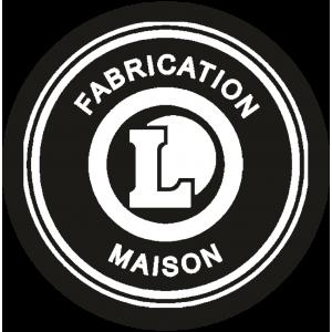 Adhésif logo grande distribution (G.M.S) - LECLERC Fabrication Maison blanc sur noir