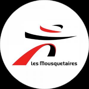 Adhésif logo grande distribution (G.M.S) - INTERMARCHÉ noir et rouge fond blanc