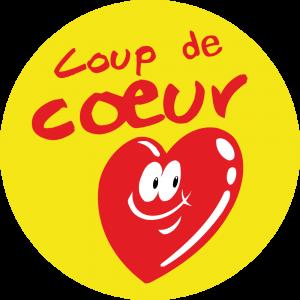 Adhésif P.L.V & Display -  Coup de Cœur rouge fond jaune