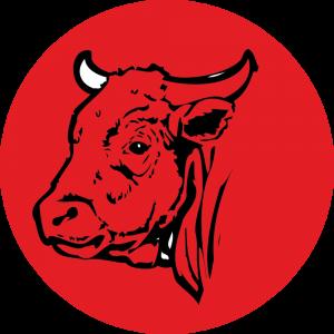 Adhésif Traçabilité Animale - Bœuf fond Rouge