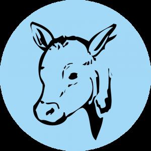 Adhésif Traçabilité Animale - Veau fond Bleu Ciel