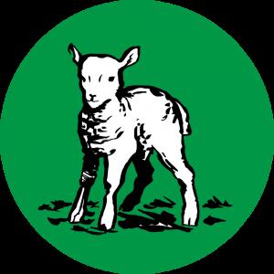 Adhésif Traçabilité Animale - Agneau fond Vert