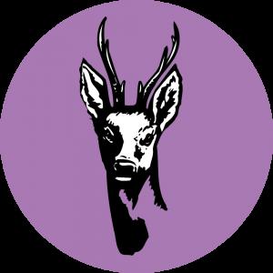 Adhésif Traçabilité Animale - Chevreuil fond Lilas