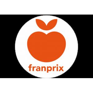 Adhésif logo grande distribution (G.M.S) - franprix orange fond blanc