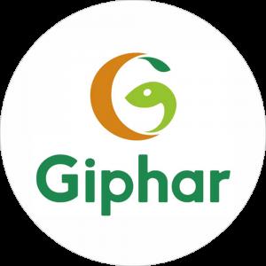Adhésif P.L.V & Display -  Giphar Pharmacie vert fond blanc