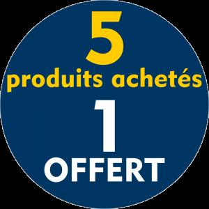 Adhésif REMISE 5 produits achetés 1 OFFERT - jaune sur bleu nuit